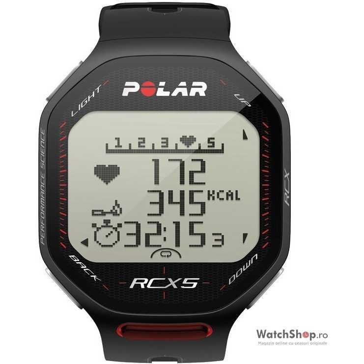 Ceas original Polar FITNESS RCX5 BIKE BLACK 90038892