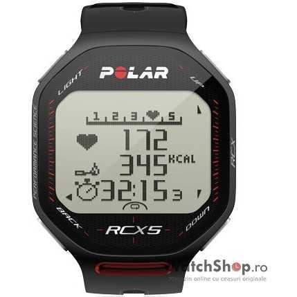 Ceas original Polar MULTISPORT RCX5 G5 BLACK 90038889