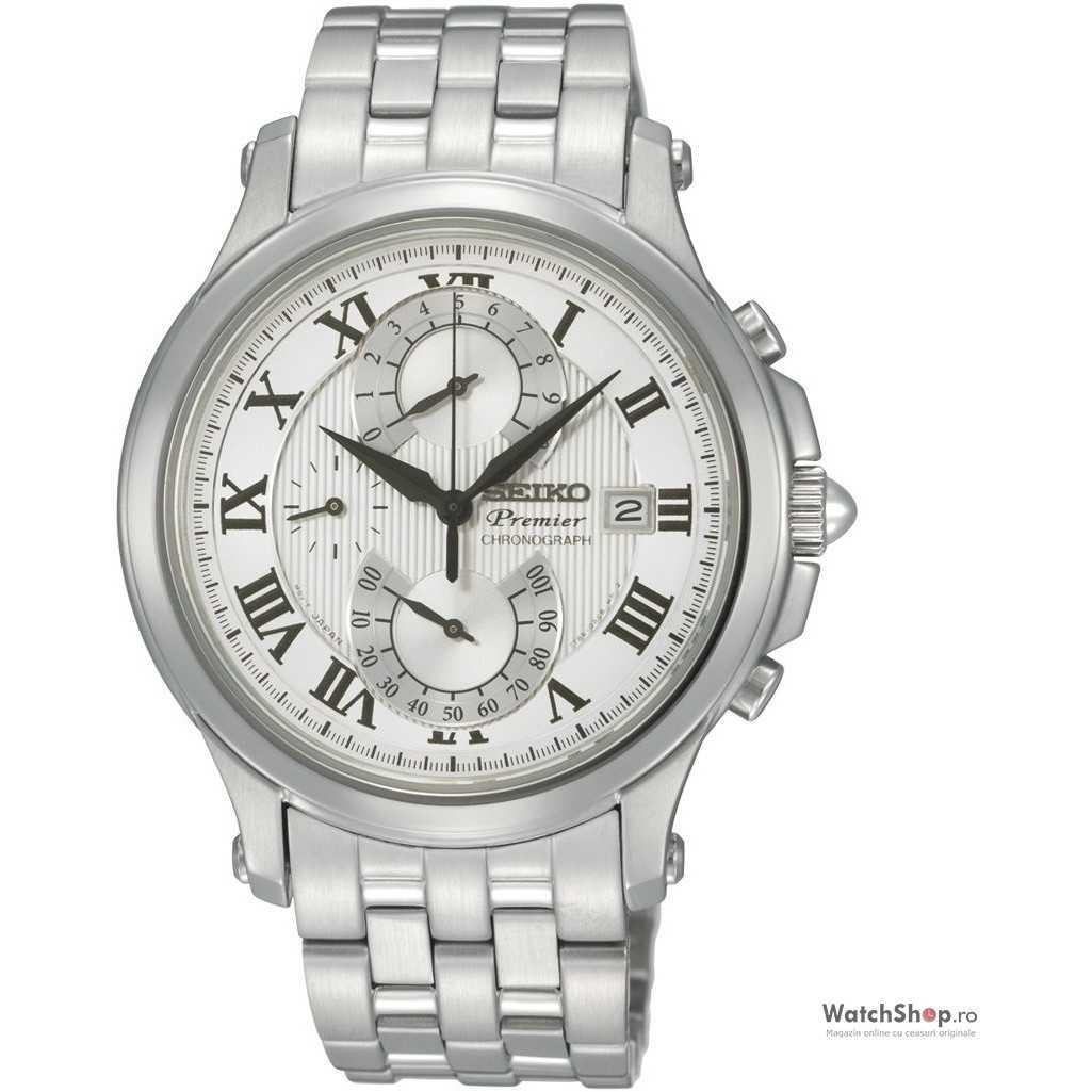Ceas original Seiko PREMIER SPC065P1 Cronograf Retrograd