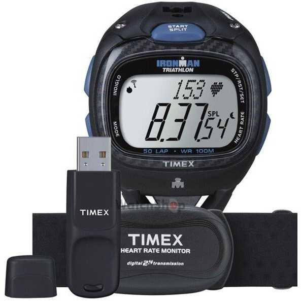 Ceas original Timex IRONMAN T5K489 Triathlon Race Trainer Pro Set