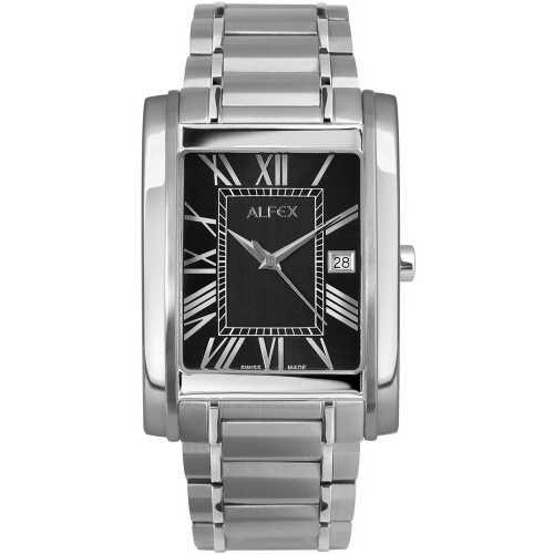 Ceas Alfex Classic Design 5667_054 Black Dial Barbatesc