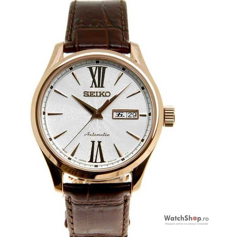 Ceas original Seiko CLASSIC SRP330J1 Rosegold Braun