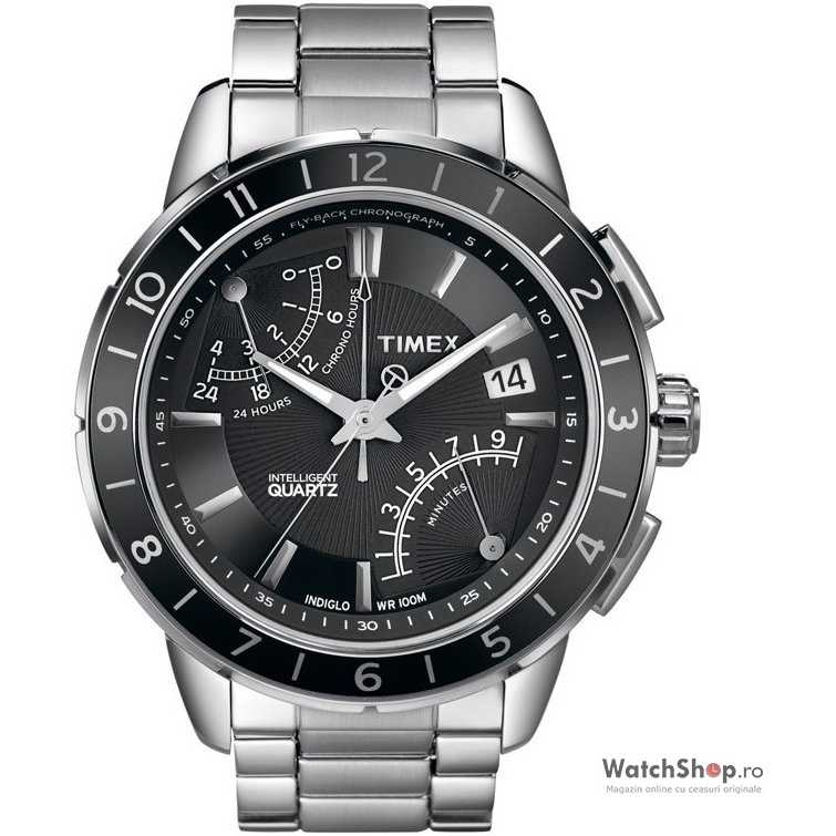 Ceas original Timex SL-SERIES T2N498 Fly Back Intelligent Quartz