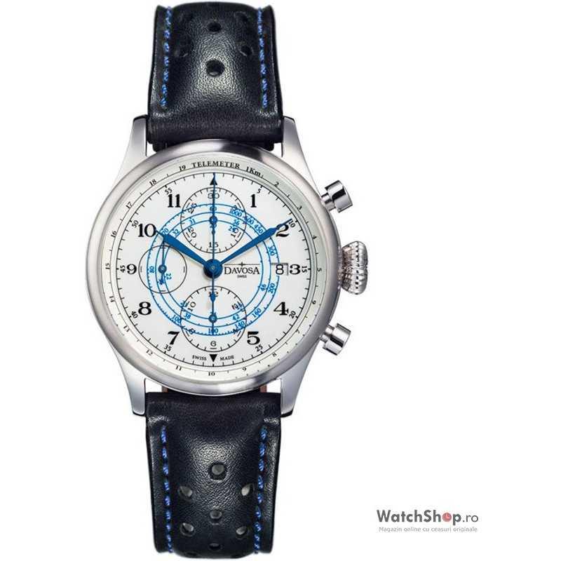 Ceas original Davosa VINTAGE RALLYE PILOTS 16100846 Cronograf