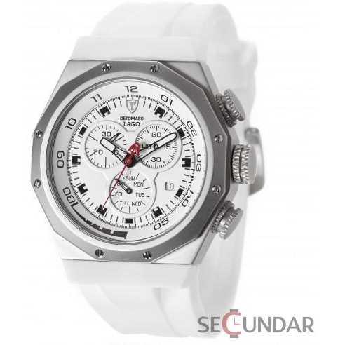 Ceas Detomaso LAGO Chronograph White DT2025-B Barbatesc