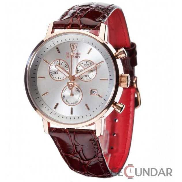 Ceas Detomaso MILANO Chronograph RedGold/Brown DT1052-C Barbatesc