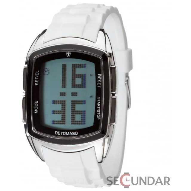 Ceas Detomaso SPACY TIMELINE LCD Silicon White DT2013-E Barbatesc