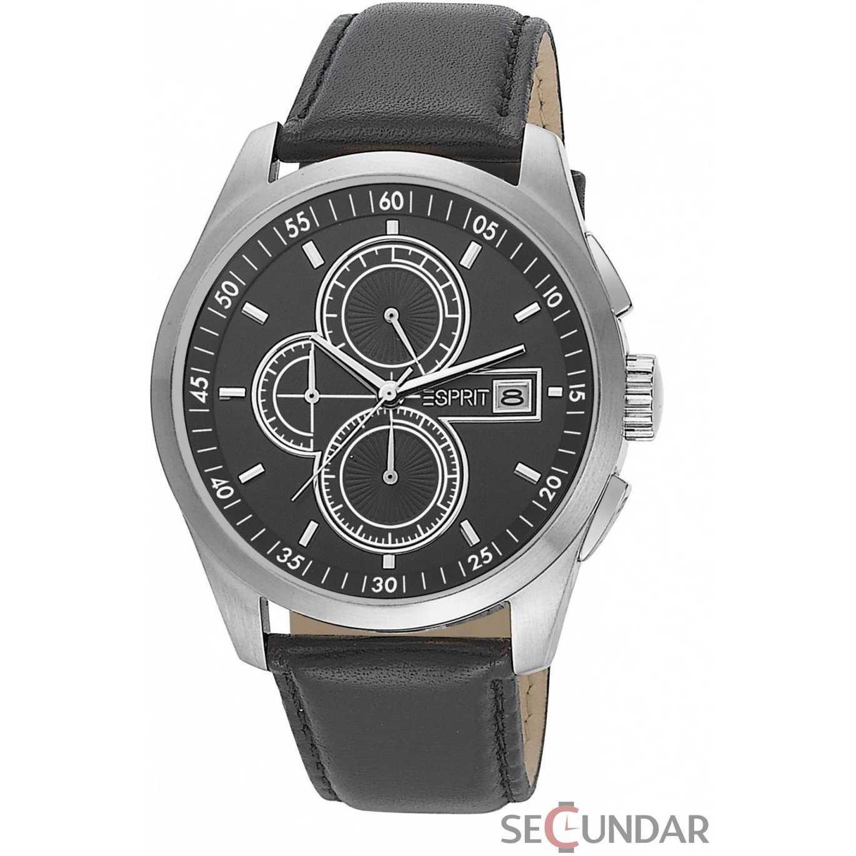 Ceas Esprit ES104091001 Circolo Black Cronograf Barbatesc