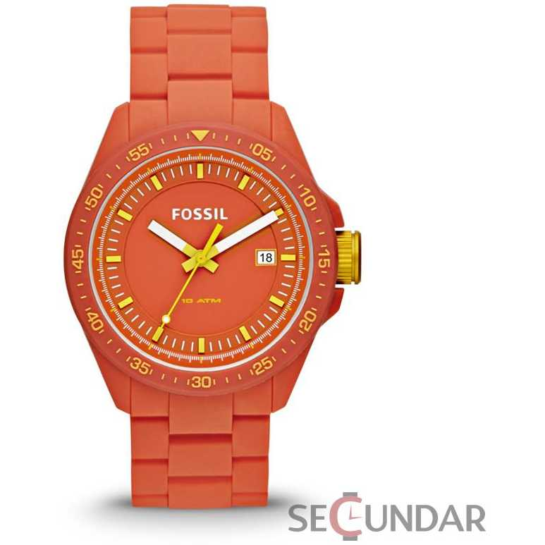 Ceas Fossil AM4504 Decker Orange Silicone Barbatesc