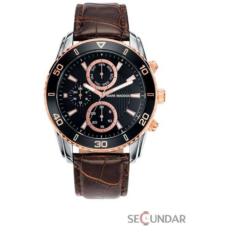 Ceas Mark Maddox TIMELESS LUXURY HC6006-47 Black Dial Barbatesc