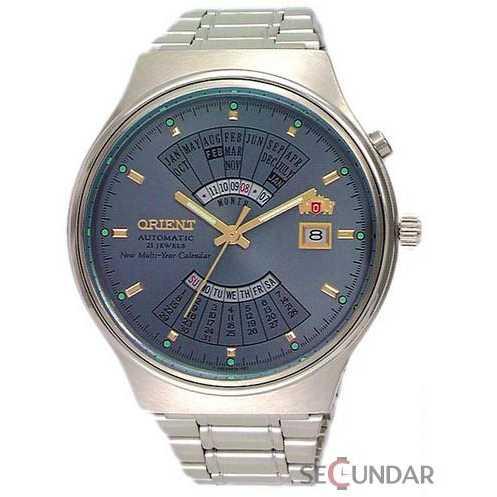 Ceas Orient Sporty Automatic FEU00002KW Multi-Year Calendar Silver Barbatesc