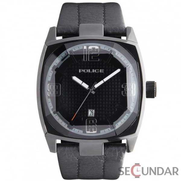 Ceas Police PL 12963JSB-02 Edge Black Leather Barbatesc