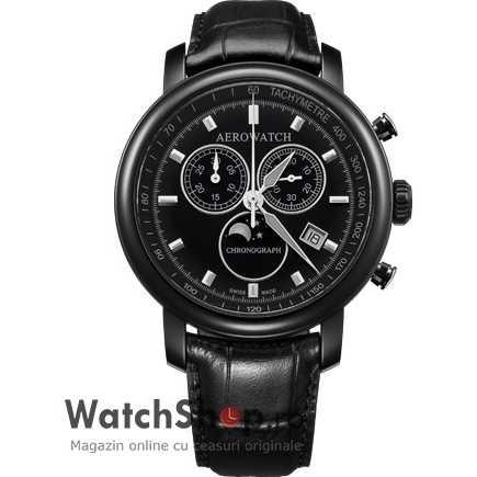 Ceas Aerowatch RENAISSANCE A84936 NO03 Moon Phases Cronograf