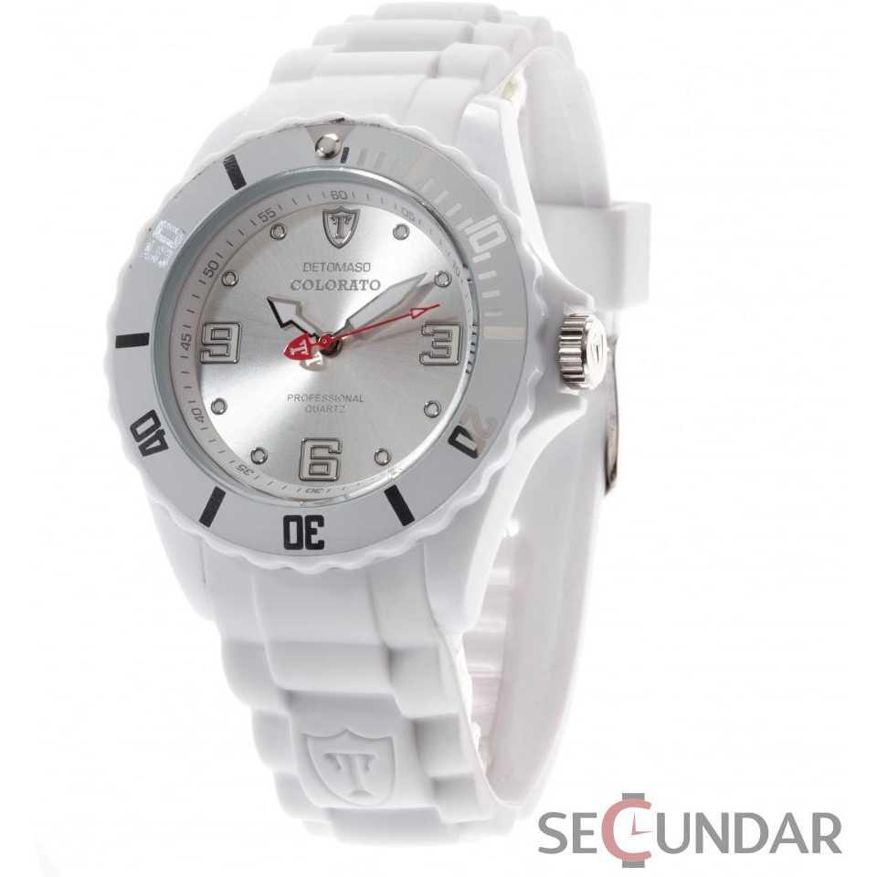 Ceas Detomaso COLORATO L White DT2012-A Barbatesc