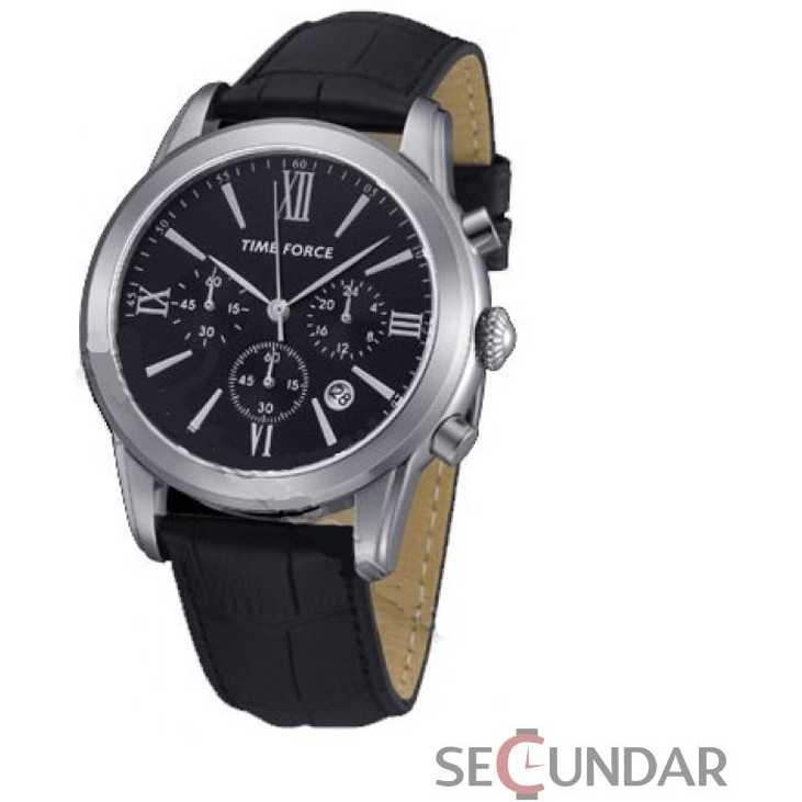 Ceas Time Force Nelson TF4099M01 Black Chronograph Barbatesc
