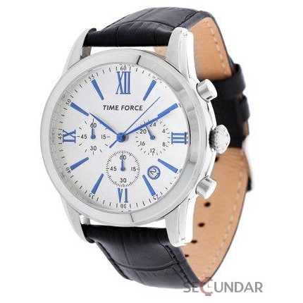 Ceas Time Force Nelson TF4099M02 Silver Chronograph Barbatesc