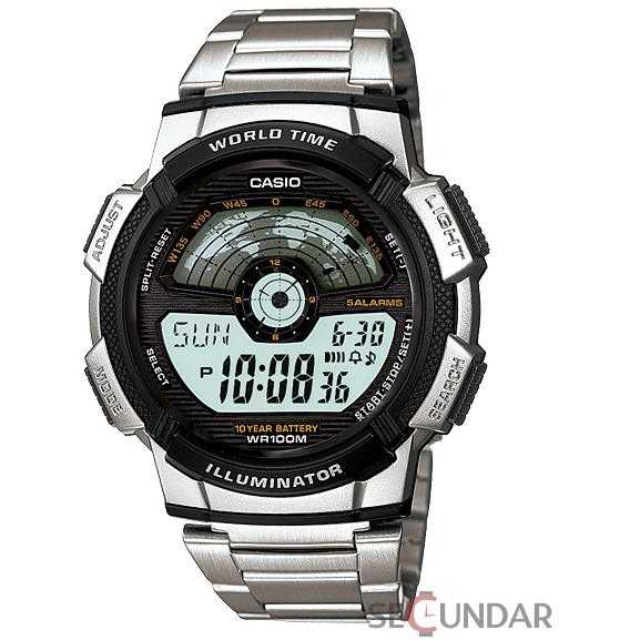 Ceas Casio AE-1100WD-1AVDF Digital Multi-Color Dial Barbatesc