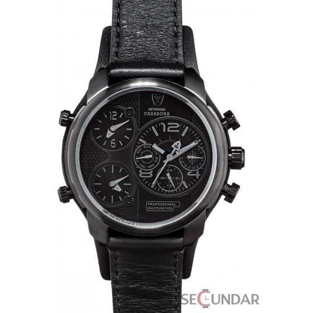 Ceas Detomaso DT2018-E Casabona Black Multifunctional Barbatesc