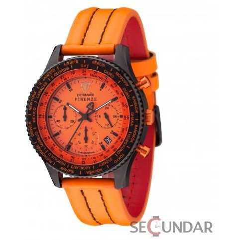 Ceas Detomaso FIRENZE Chronograph Orange/Black SL1624C-OR Barbatesc