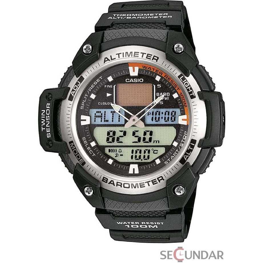 Ceas Casio Sports SGW-400H-1B Twin Sensor Barbatesc