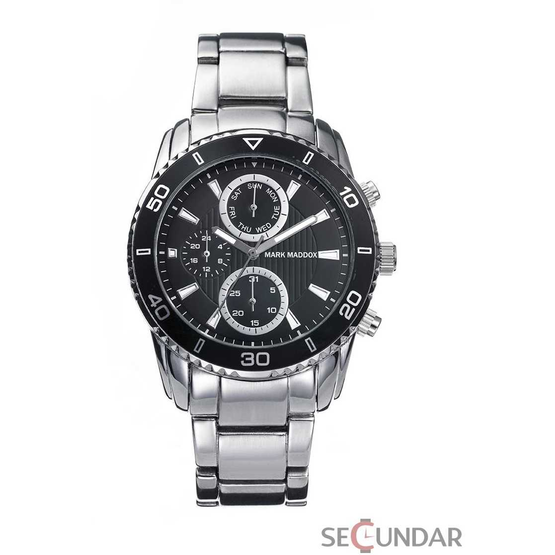 Ceas Mark Maddox TIMELESS LUXURY HM6005-57 Black Chronograph Barbatesc