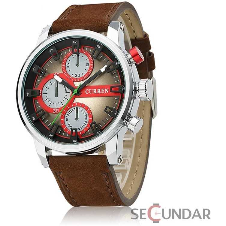 Ceas Curren Military Design Brown M8170 Barbatesc