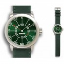 Ceas 666Barcelona Adventure green leather 8424210000834 Barbatesc