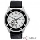 Ceas Bulova 96A123 Automatic Black Leather Strap Barbatesc