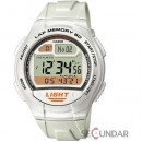 Ceas Casio Sports W-734-7A White Digital Barbatesc
