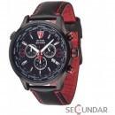 Ceas Detomaso AURINO Chronograph Leather Black DT1061-H Barbatesc