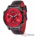 Ceas Detomaso AURINO Chronograph Leather Black/Red DT1061-G Barbatesc