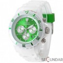 Ceas Detomaso COLORATO CHRONO White/Green DT2019-J Barbatesc
