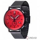 Ceas Detomaso DT1052-N MILANO Chronograph Milanaise Black/Red Barbatesc