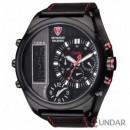 Ceas Detomaso DT2052-A PALERMO Multiple-Time Black Leather Barbatesc