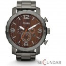 Ceas Fossil JR1355 Nate Chronograph Stainless Steel Watch Smoke Barbatesc