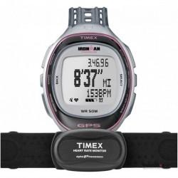Ceas original Timex IRONMAN T5K630 Run Trainer GPS HRM imagine mica