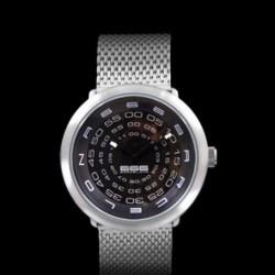 Ceas 666Barcelona Concentric mesh black/white 842421000CONCE Unisex imagine mica