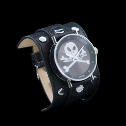 Ceas 666Barcelona Silver D big skull 8424210002012 Unisex imagine mica