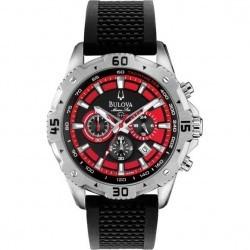 Ceas Bulova 96B186 Sport Marine Star Black & Red Dial Barbatesc imagine mica