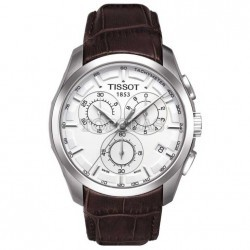 Tissot Couturier Quartz Chronograph Leather 2 imagine mica