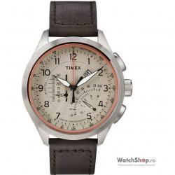 Ceas original Timex INTELLIGENT QUARTZ T2P275 Cronograf Linear imagine mica