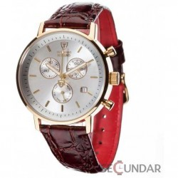 Ceas Detomaso MILANO Chronograph Gold/Brown DT1052-I Barbatesc imagine mica