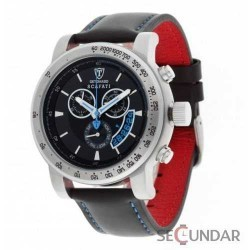 Ceas Detomaso SCAFATI Black Blue Leather Chronograph DT1031-C Barbatesc imagine mica