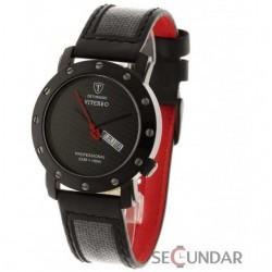 Ceas Detomaso VITERBO Black Carbon DT1021-A Barbatesc imagine mica