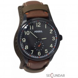 Ceas Fossil FS4917 The Agent Three-Hand Brown Leather Watch Barbatesc imagine mica