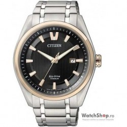 Ceas Citizen TITANIUM AW1244-56E Eco-Drive imagine mica