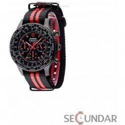 Ceas Detomaso Firenze Stripes Black/Red DT1070-D Barbatesc imagine mica