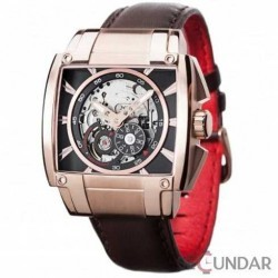 Ceas Detomaso METAURO Automatic Redgold/Black DT2048-C Barbatesc imagine mica
