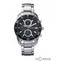 Ceas Mark Maddox TIMELESS LUXURY HM6005-57 Black Chronograph Barbatesc imagine mica